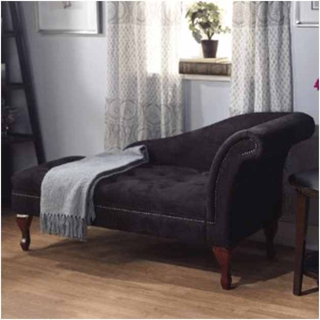 Microfiber chaise lounge