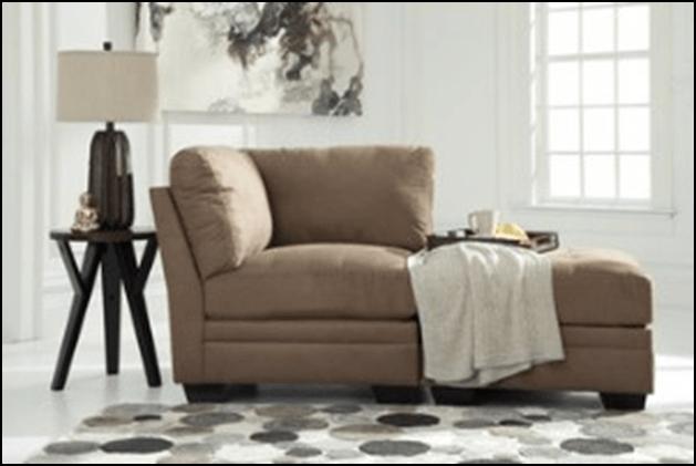 Overstuffed chaise lounge