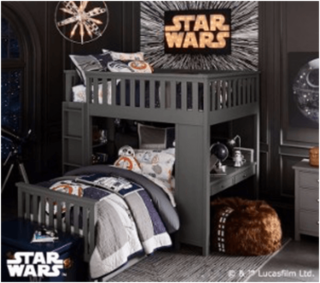 Star Wars themed bedroom