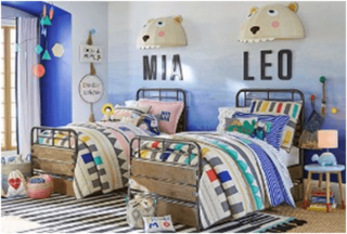 Fun sister and brother kids bedroom