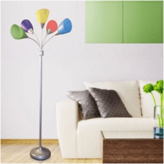 Colorful floor lamp for kids bedroom