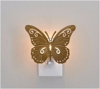 Butterfly outlet night light for kids bedroom