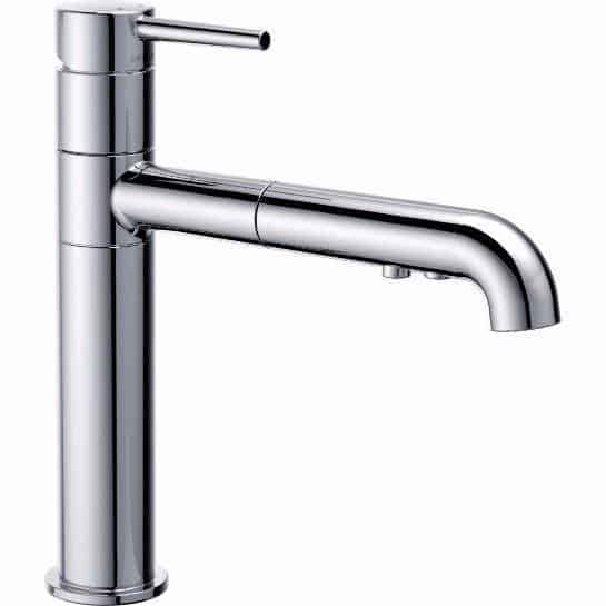Faucet with single handle pull-out