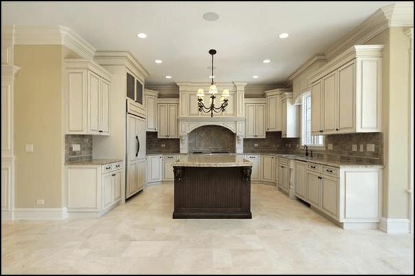 Marble Tile Kitchen Flooring
