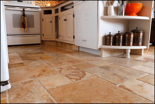 Granite Tile Kitchen Flooring
