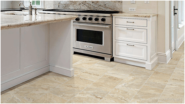 Attirant Onyx Tile Kitchen Flooring