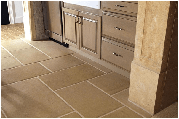 Merveilleux Sandstone Tile Kitchen Flooring