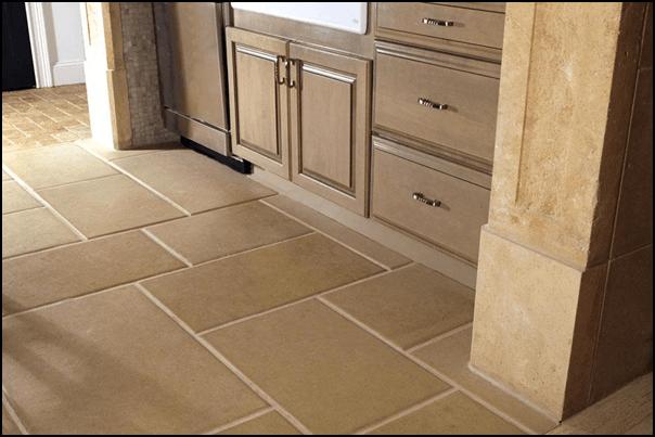 Sandstone Tile Kitchen Flooring