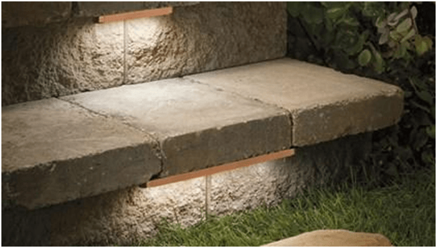Hardscape Lights have very small light bulbs installed directly into a landscape feature like handrails, patios and decks.