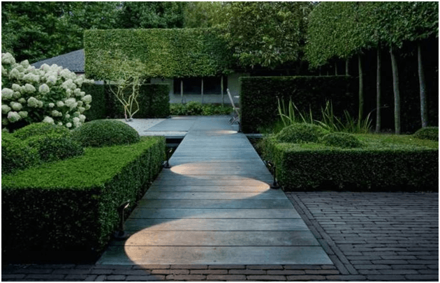 Path lighting is a great way to emphasize a pathway or walkway by placing the fixture alternately on each side of the way with appropriate distance.