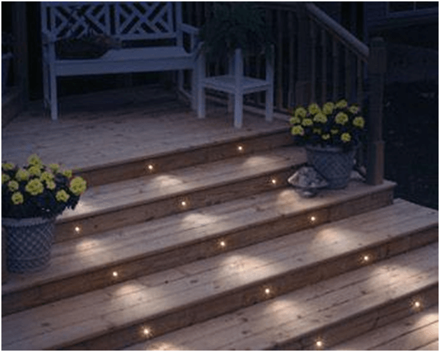 Deck lights are used to illuminate outdoor deck or patio to improve safety, visibility and aesthetic.