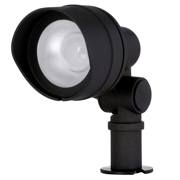 Spotlight is a versatile outdoor lighting fixture used to emphasize landscape features or serves as security lighting.