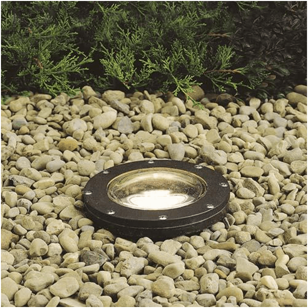 Well Lights, as the name implies, are like well with lighting fixture buried into the ground great for illuminating pathways or an important landscape element.