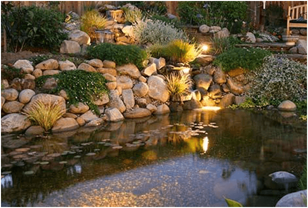 Pond Lights give beautiful accent to any backyard elements like ponds or water features similar to waterproof spotlights.