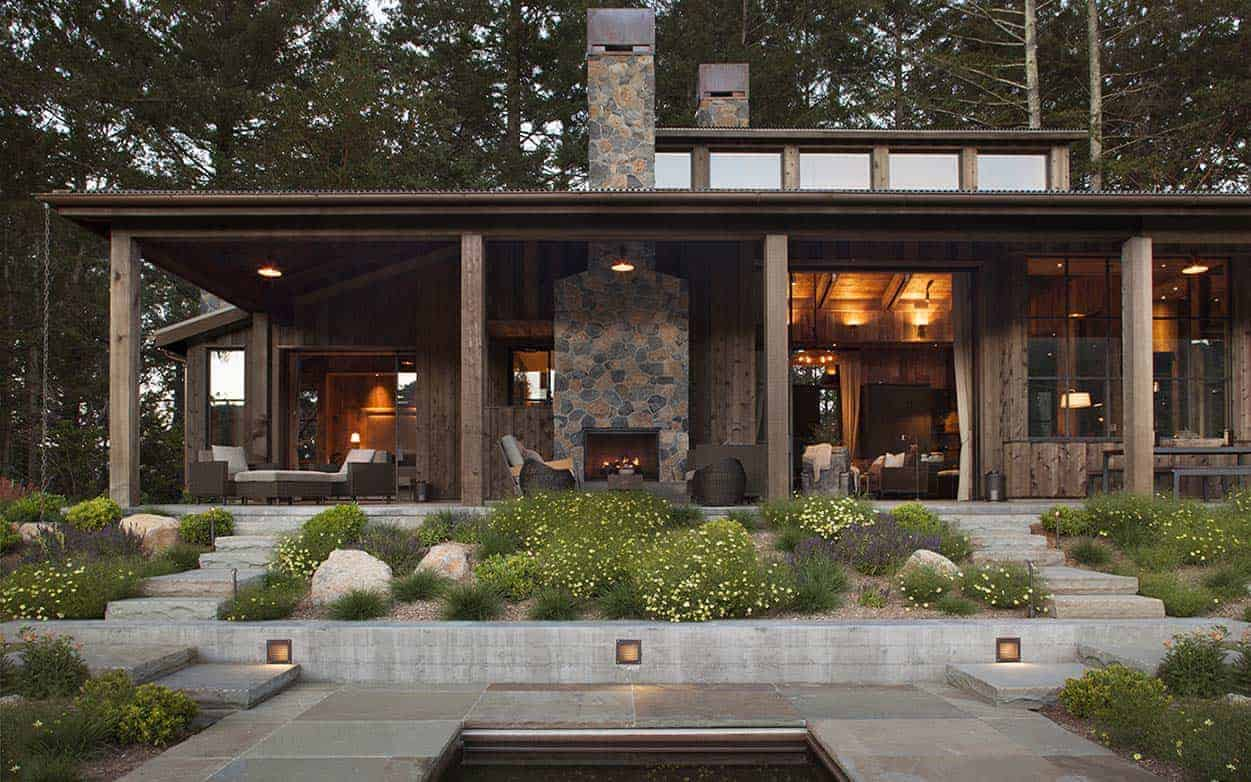 Rustic Napa Rural House by Wade Design Architects