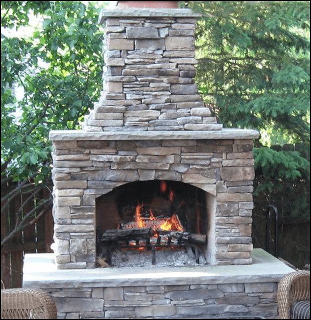 Outdoor custom built fire place