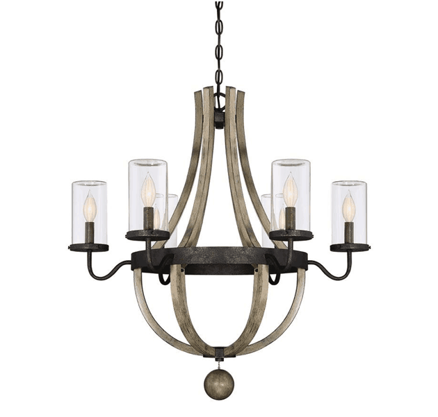 Chandeliers are a type of pendant lighting that comes with a number of bulbs and arms, an elegant option to add elegance in an indoor or outdoor space.