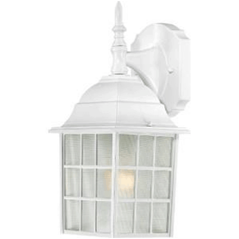 Add a country charm to your exterior walls with this cottage style outdoor lights in white vintage-inspired cage design.