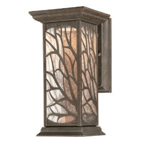 Rustic or lodge wall-mounted lighting comes with a traditional yet stylish cage perfect for a cabin or shabby-chic homes.