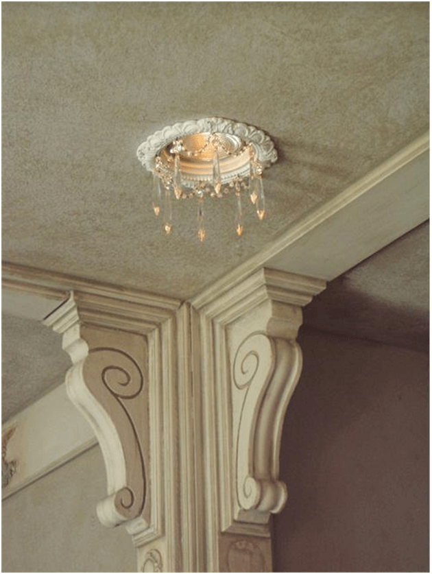 Victorian interior with recessed lighting