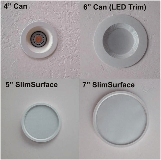 Recessed lighting chart