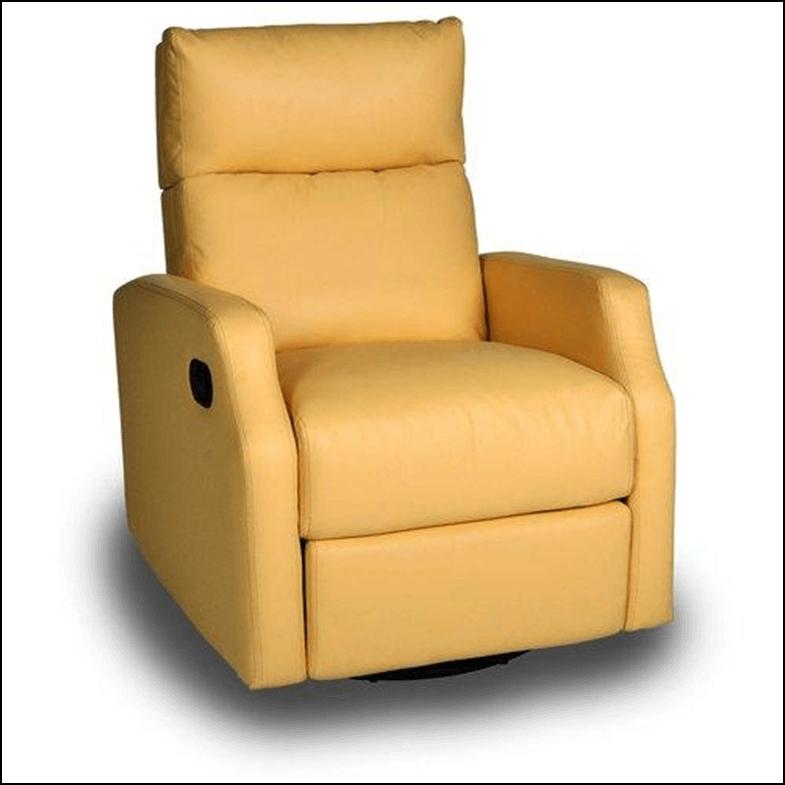 Yellow Chestnut Run Chaise Recliner