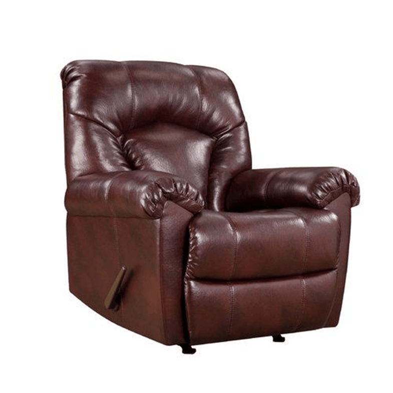 Deep red Granby Bonded Leather Rocker Recliner