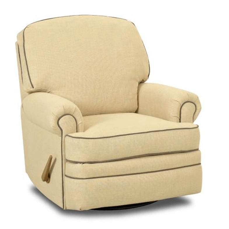 Soft yellow Shedd Swivel Reclining Glider chair