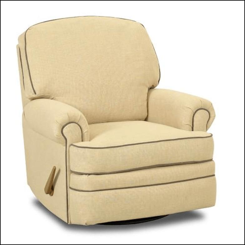 Soft yellow Shedd Swivel Reclining Glider chair