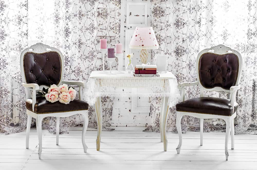 Shabby Chic home decor sitting area