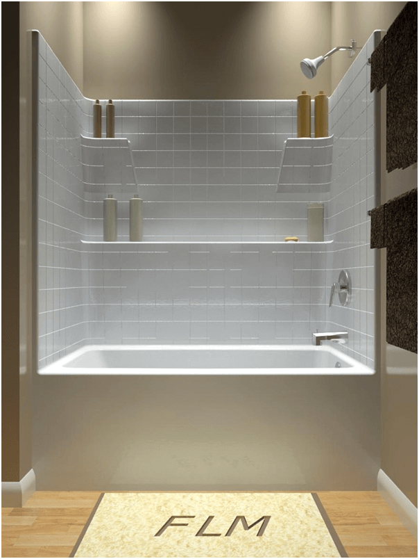 Shower and tub combo