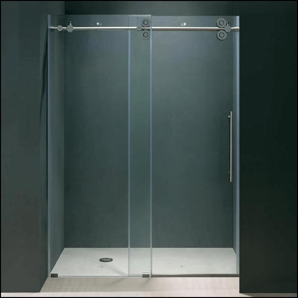 Shower with sliding door