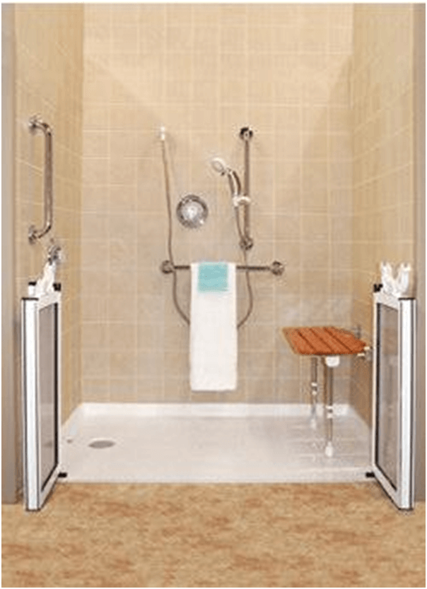 Shower with accessibility features