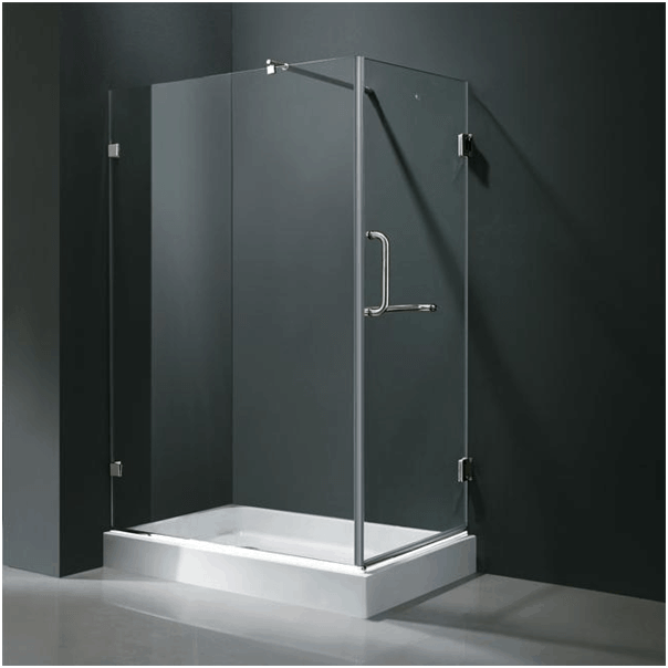 Rectangle enclosed glass shower