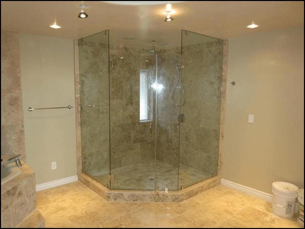 Non-enclosure glass shower
