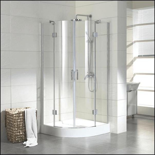 Corner enclosure shower