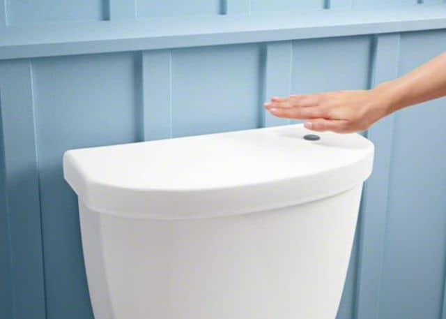 Touchless flush toilet