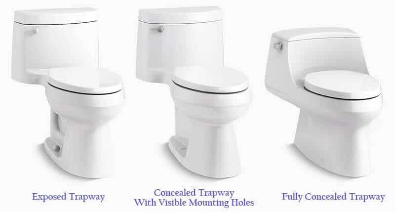 Toilet trapway design options