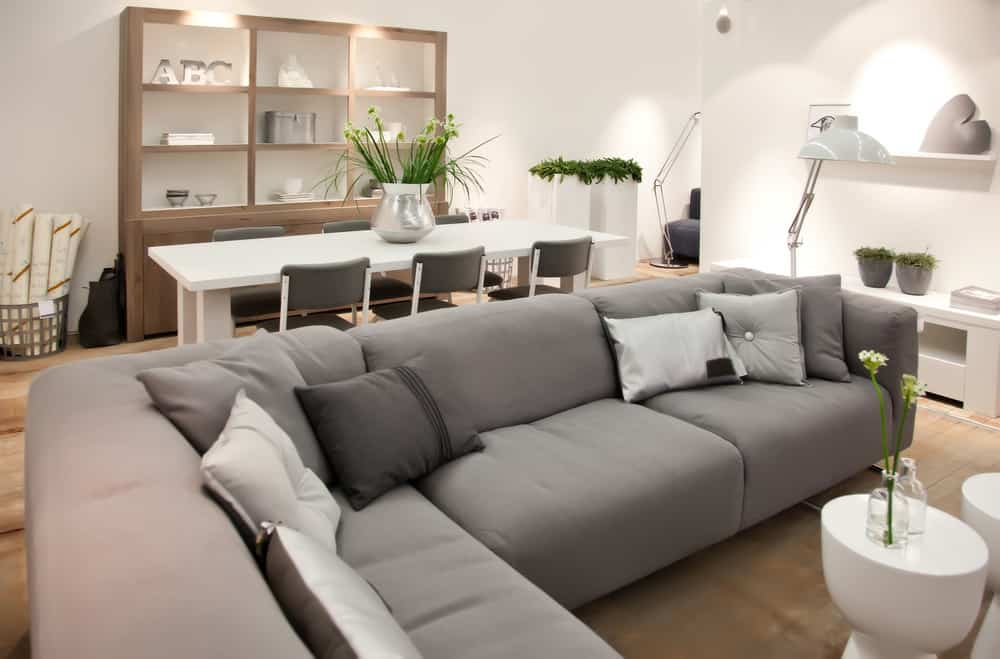 Transitional living room home decor example