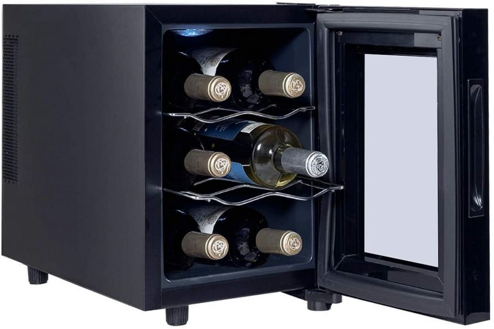 The Manoch 6 Bottle Wine Fridge from Wamaffa.
