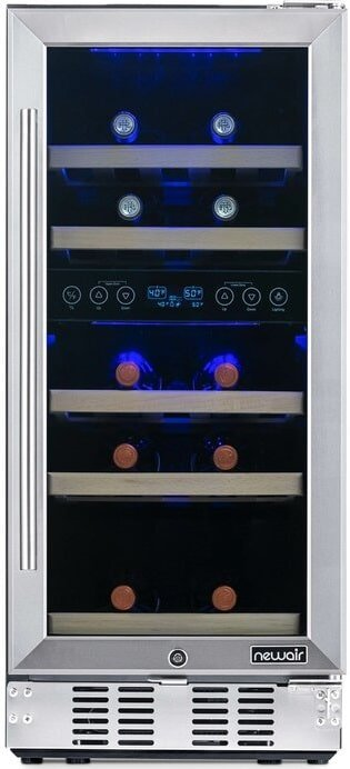 The NewAir 29 Bottle Wine Refrigerator from Wayfair.