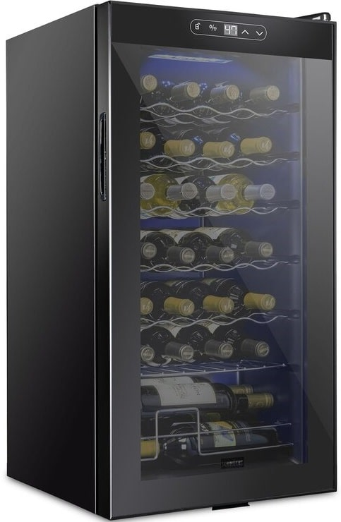 The Schmecke 28 Bottle Wine Cooler from Wayfair.