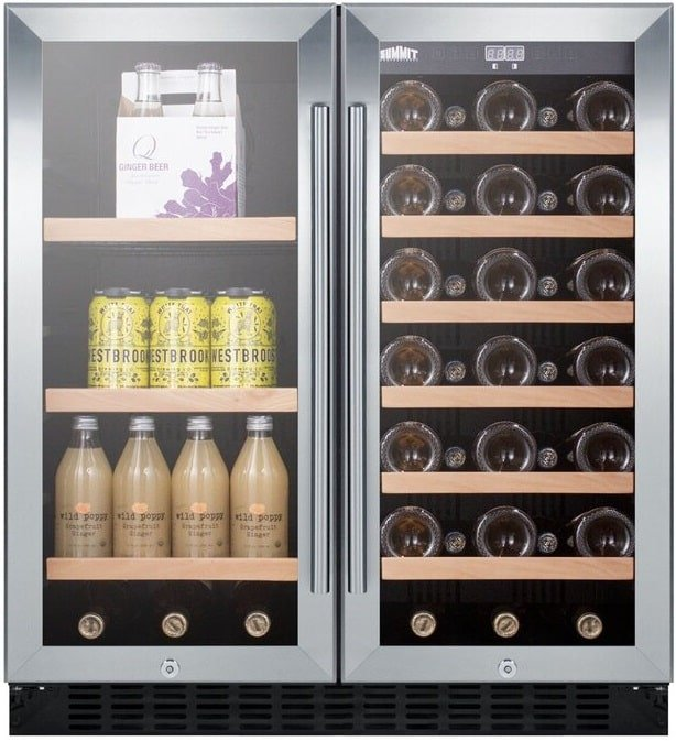 The Summit Appliance 33 Bottle and 48 can Wine Refrigerator from Wayfair.
