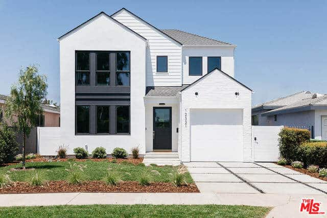 Newly-Constructed Home with Pristine White Exterior