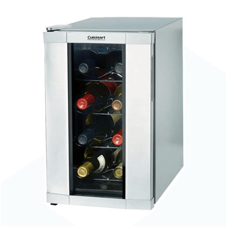 Tall and skinny small 8 bottle wine fridge.