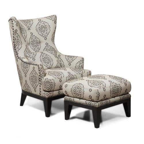 Baltic Wingback Chair & Ottoman