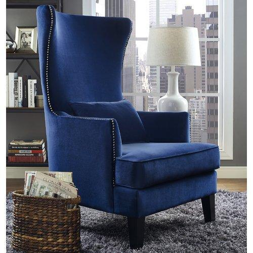 Stonehill Velvet Wingback Chair