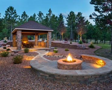 Cool patio fire pit