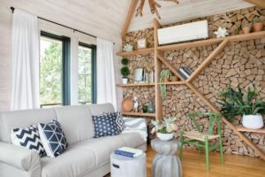 How to build a firewood accent wall