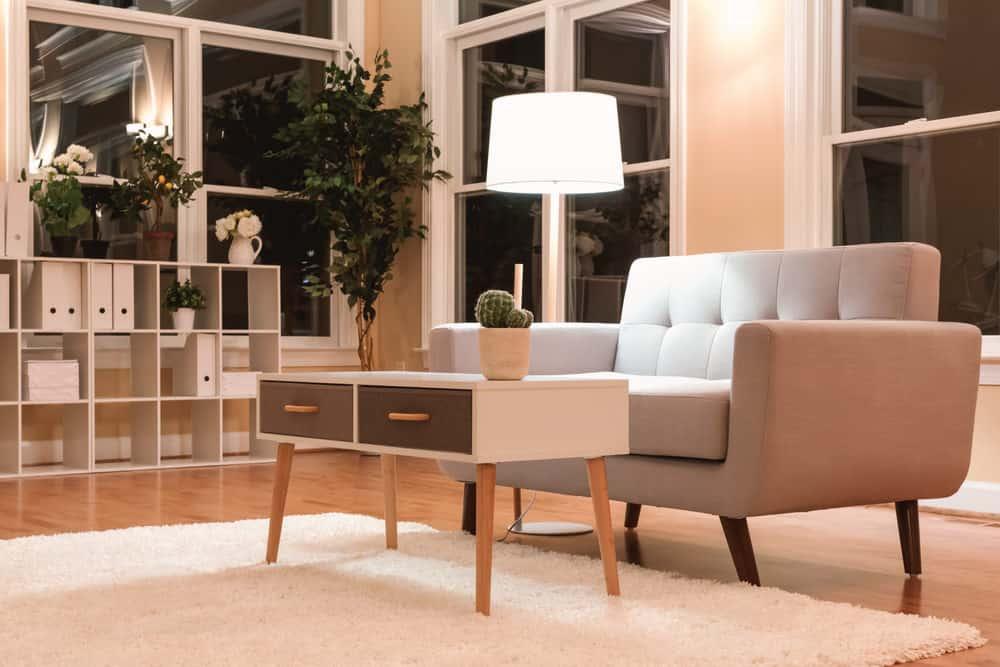 Midcentury style living room.